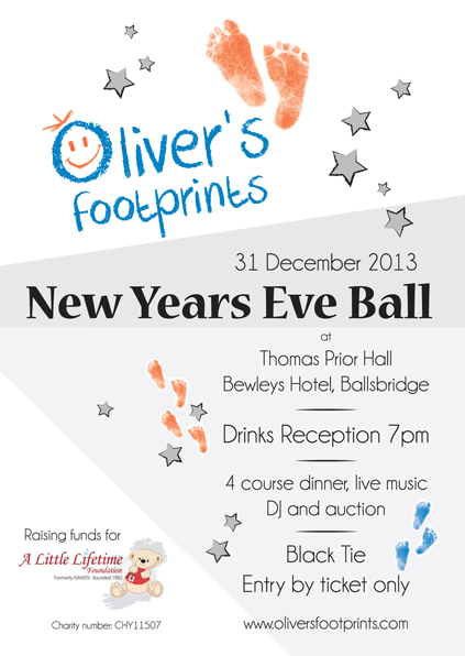 Oliver's Footprints New Year's Eve Ball